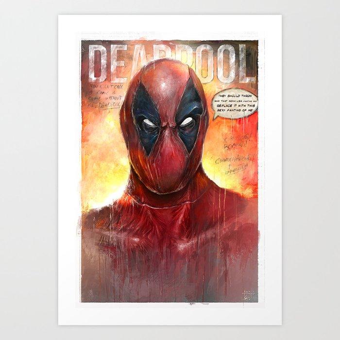 Sexy Deadpool Art Print