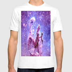 Galaxy Nebula : Pillars of creation Mens Fitted Tee White MEDIUM