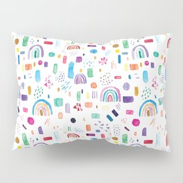 Watercolor cute colorful rainbow pattern Pillow Sham