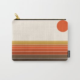 Peace Out - sunset ocean surfing beach life 70s style retro 1970s design Carry-All Pouch