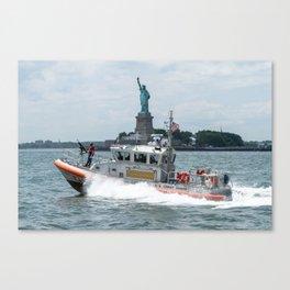 Coast Guard and Liberty Canvas Print