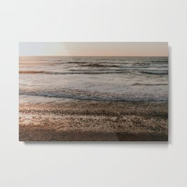 Sunset over Pacific Ocean Metal Print