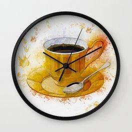 Coffee Art Wall Clock