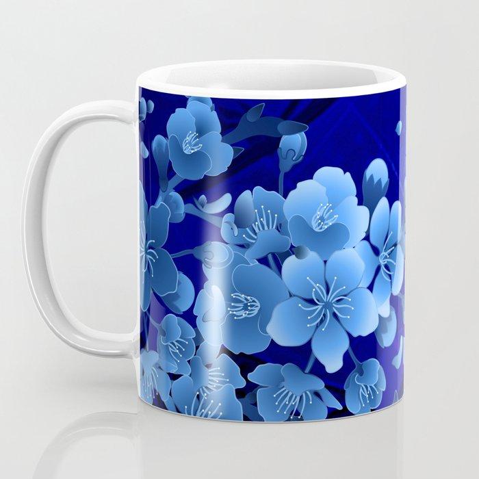 Cherry blossom, blue colors Coffee Mug