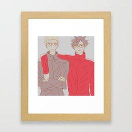 Haikyuu!! - Kurotsuki 2 Framed Art Print
