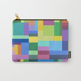 Color Burst Geometry Carry-All Pouch