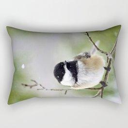 Chickadee Bird Rectangular Pillow