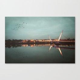The Peace Bridge, Derry-Londonderry Canvas Print