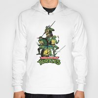 tmnt Hoodies featuring TMNT by Neal Julian
