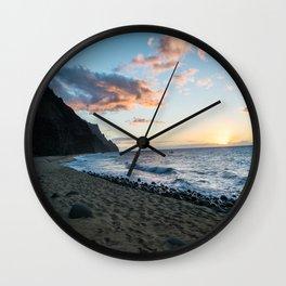 Kalalau Beach Wall Clock