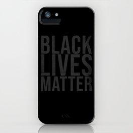 Black Lives Matter grey distressed iPhone Case