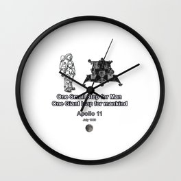 Space and the Moon Walk Wall Clock