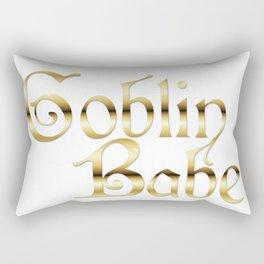 Labyrinth Goblin Babe (white bg) Rectangular Pillow
