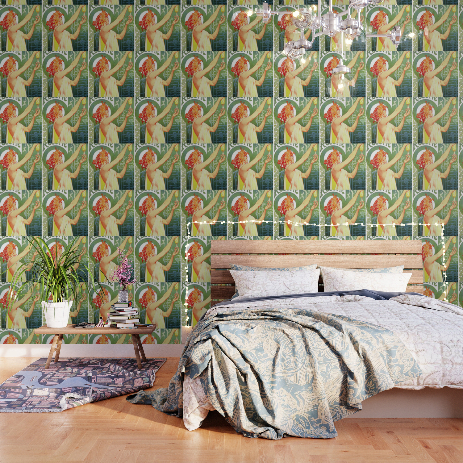 Absinthe Robette Art Nouveau Wallpaper By Colorfuldesigns Society6