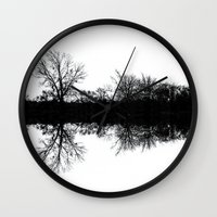 mirror Wall Clocks featuring Mirror by Mark Alder