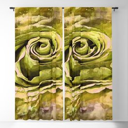 Yellow and Grey Artistic Rose Blackout Curtain