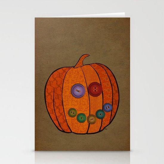 Patterned pumpkin  Stationery Cards