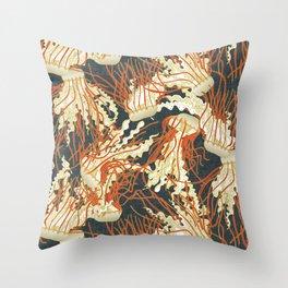 jellyfish slate Throw Pillow