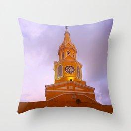 Cartagena Clocktower Throw Pillow