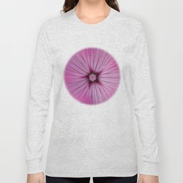 Pink Striations Long Sleeve T-shirt