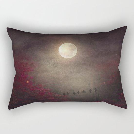 Red Sounds like Poem Rectangular Pillow