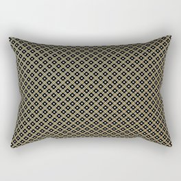 Smal black, white and gold dots pattern Rectangular Pillow