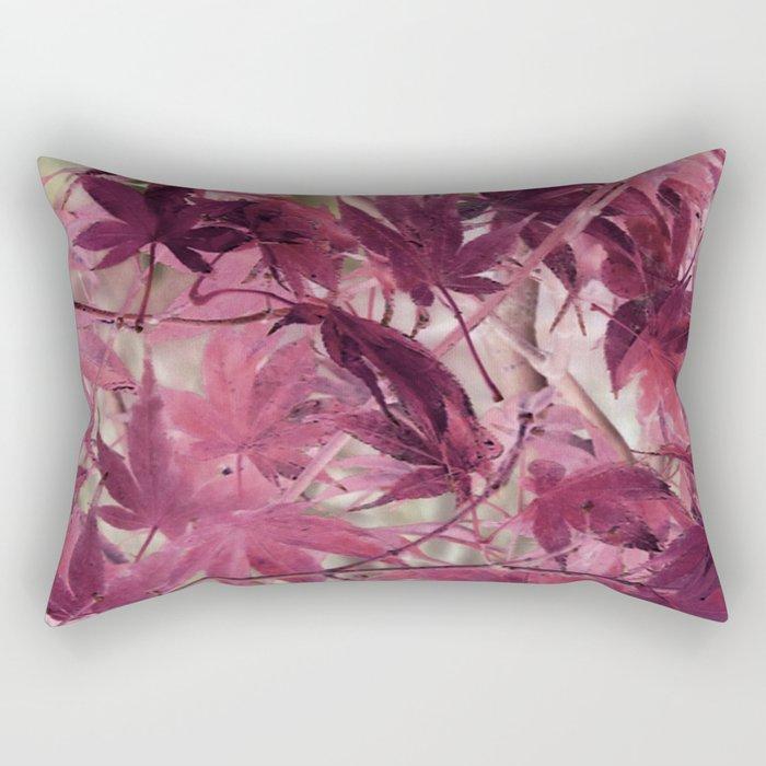 Red Fall Rectangular Pillow