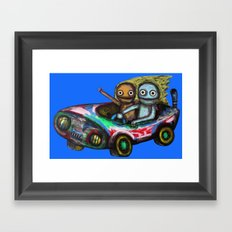A trip by car Framed Art Print
