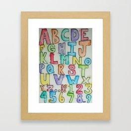 Letter Sampler Framed Art Print