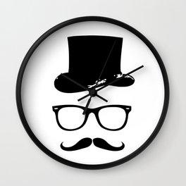 Moustache Sir Wall Clock