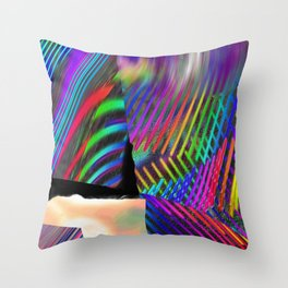 Rainbow Strate Throw Pillow
