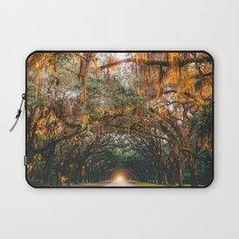Tree Lined Road Laptop Sleeve