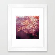 water leaf Framed Art Print