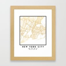 NEW YORK CITY NEW YORK CITY STREET MAP ART Framed Art Print