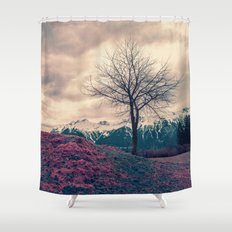 Japanese Mountains Shower Curtain