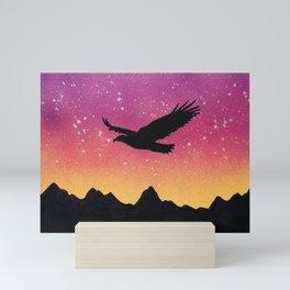 Eagle Silhouette Mini Art Print