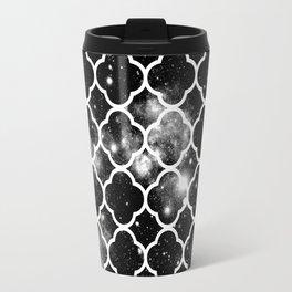 Infinite Choices Exist Beyond the Pattern black & white Travel Mug