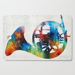 Colorful French Horn - Color Fusion By Sharon Cummings Cutting Board