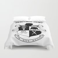 army Duvet Covers featuring Armitage Army by Circus Doll