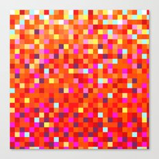 Inferno -- Pixel Art by KCS Canvas Print