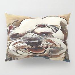 The White Miniature Schnauzer Pillow Sham
