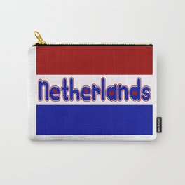 Netherlands Flag with Dutch Font Carry-All Pouch