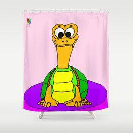 Wide-eyed Turtle Shower Curtain