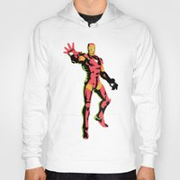 iron man Hoodies featuring iron man  by mark ashkenazi