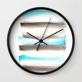 [170105] 1 Color Study Blue|Watercolor Brush Stroke Wall Clock