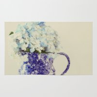 hydrangea Area & Throw Rugs featuring Hydrangea by Beverly LeFevre