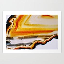 Amber Agate Art Print