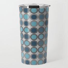 Grey blue circle 6 Travel Mug