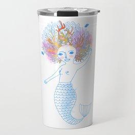 Coral the Mermaid Travel Mug