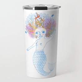 Coral the Mermaid Travel Mug